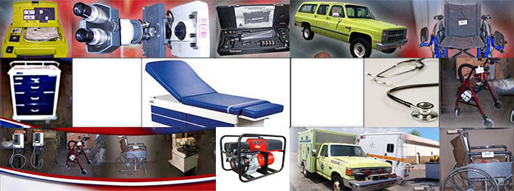 Collage graphic of equipment